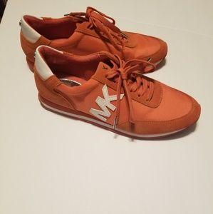 Michael kors orange tennis shoes